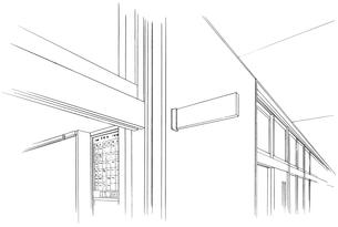手描き背景線画_学校_教室20のイラスト素材 [FYI00604991]