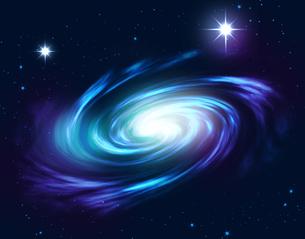 星雲 銀河 天の川 宇宙のイラスト素材 [FYI00605120]