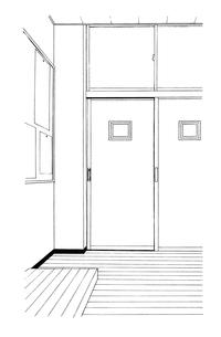手描き背景線画_学校_教室03のイラスト素材 [FYI00605139]