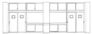 手描き背景線画_学校_教室11のイラスト素材 [FYI00605141]