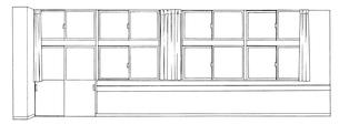 手描き背景線画_学校_教室10のイラスト素材 [FYI00605142]