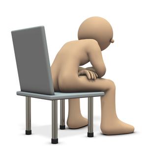 椅子に座る男性のイラスト素材 [FYI00613993]