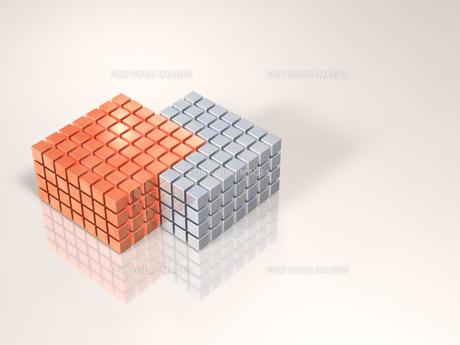 集合するキューブのイラスト素材 [FYI00613995]