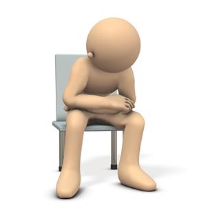椅子に座る男性のイラスト素材 [FYI00614015]