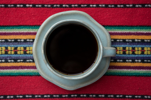 コーヒータイム 真上の写真素材 [FYI00618560]