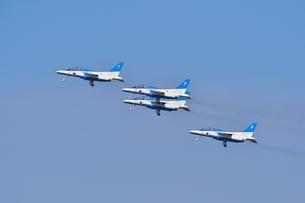 離陸するブルーインパルスの写真素材 [FYI00618959]