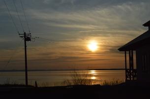 サロマ湖 夕暮れの写真素材 [FYI00618973]