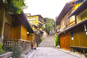 京都 三年坂の町並みの写真素材 [FYI00619020]