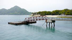 大久野島 桟橋の写真素材 [FYI00619378]