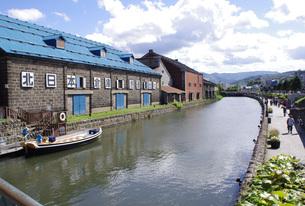 小樽運河の写真素材 [FYI00619437]