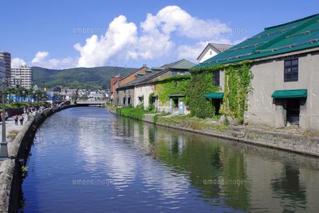 小樽運河の写真素材 [FYI00619439]