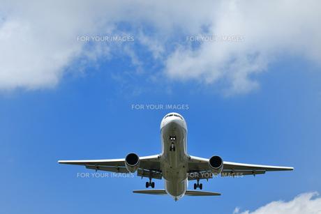 着陸する旅客機の写真素材 [FYI00619776]