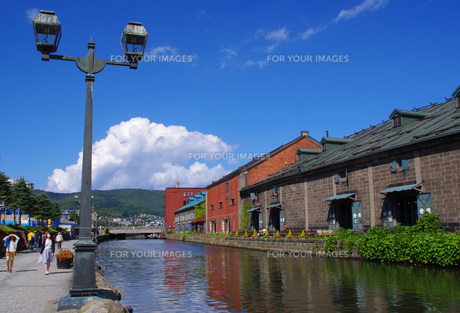 小樽運河の写真素材 [FYI00619789]