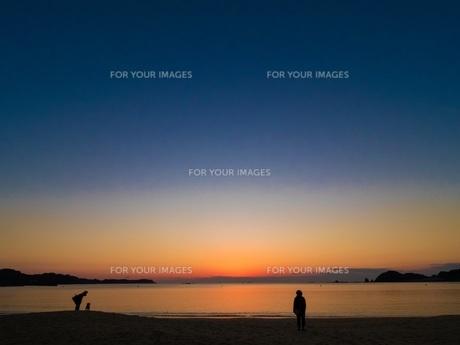 朝の海の写真素材 [FYI00619828]