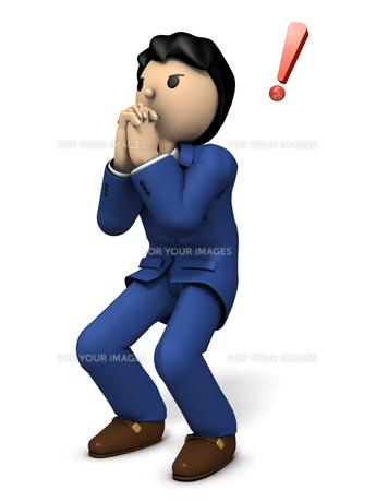 祈る男性のイラスト素材 [FYI00620067]