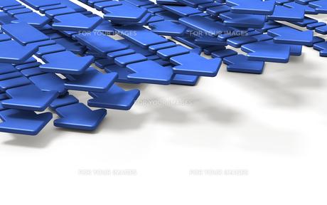 進む青い矢印のイラスト素材 [FYI00620071]