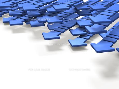 進む青い矢印のイラスト素材 [FYI00620074]