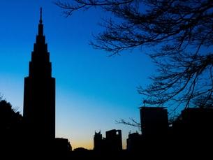 新宿の夕空の写真素材 [FYI00620203]