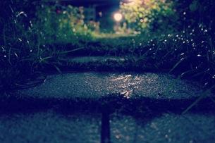 石畳の道の写真素材 [FYI00620256]