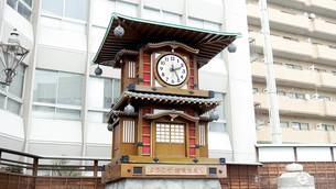 坊ちゃんカラクリ時計の写真素材 [FYI00620834]