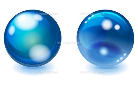 透明度のあるブルーの球体 CGイラストのイラスト素材 [FYI00621000]