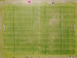 サッカーのフィールドの写真素材 [FYI00621532]