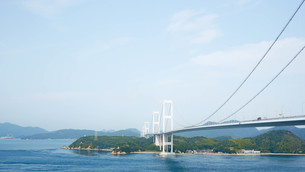 来島海峡大橋の写真素材 [FYI00621586]