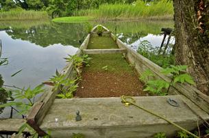 里山、琵琶湖と命をめぐる湧き水と共存する村の写真素材 [FYI00622282]