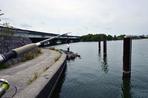 琵琶湖でバス釣りの写真素材 [FYI00622284]