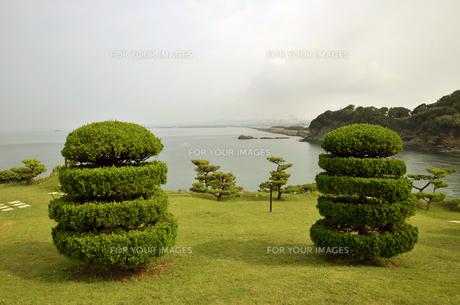 番所庭園の景色の写真素材 [FYI00625290]