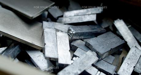 金属活字の写真素材 [FYI00625606]