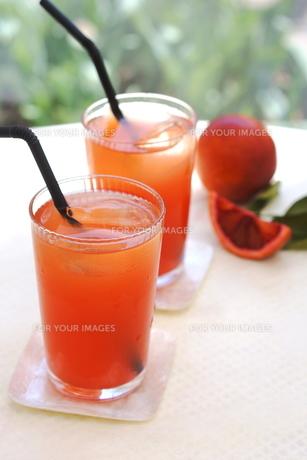 ブラッドオレンジジュースの写真素材 [FYI00626179]