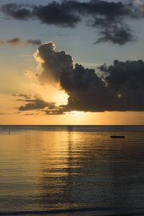 パラオ 夕方の浜辺の写真素材 [FYI00627427]