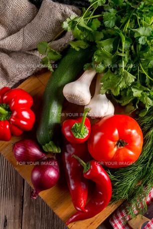 vegetable tabletの写真素材 [FYI00628871]