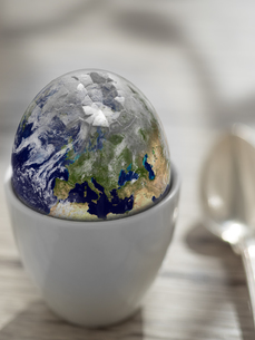 earth shell. earth in this montage provided by nasaの写真素材 [FYI00628942]