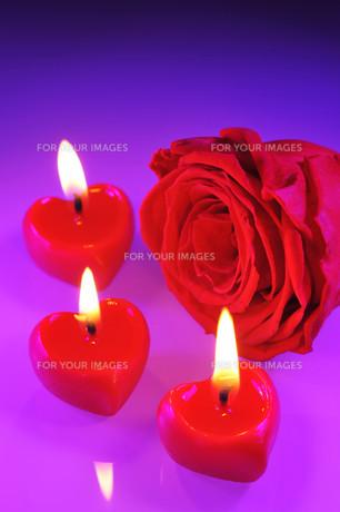 candle heartの写真素材 [FYI00629503]