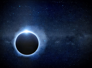 Eclipse on the planet Earthの写真素材 [FYI00629756]