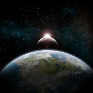 Eclipse on the planet Earthの写真素材 [FYI00629758]