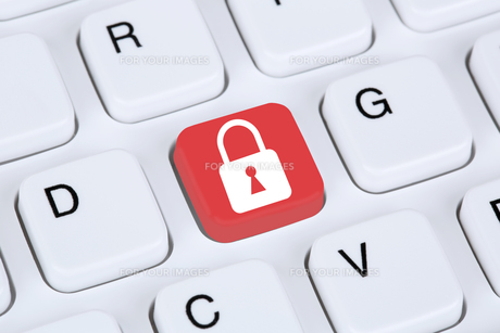 computer security on the internet lock iconの写真素材 [FYI00630196]