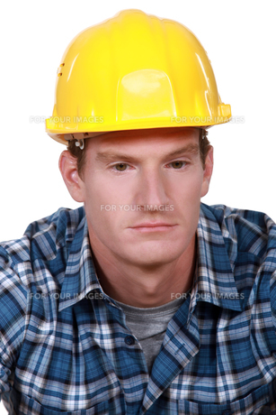 Depressed construction workerの素材 [FYI00630337]