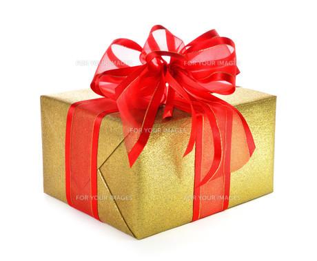 golden gift with clever loopの写真素材 [FYI00630622]
