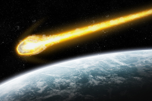 Meteorite impact on a planet in spaceの写真素材 [FYI00630725]