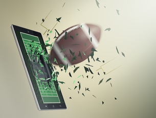 football and new communication technologyの写真素材 [FYI00631439]