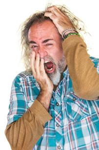 Tired Man Scratching Headの写真素材 [FYI00631604]