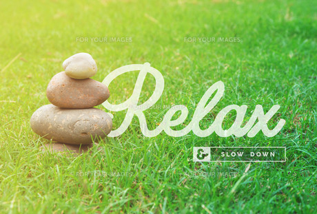 Relax motivational quote concept backgroundの写真素材 [FYI00631643]