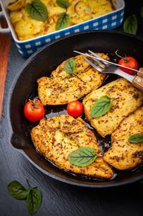 Marinated chicken breastの写真素材 [FYI00631671]