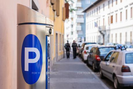 Machine parkingの写真素材 [FYI00631705]