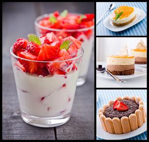 Dessert Collageの写真素材 [FYI00632167]