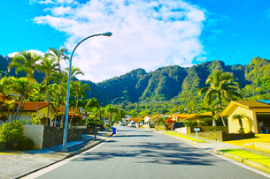 ハワイ ハワイカイの住宅地の写真素材 [FYI00632514]