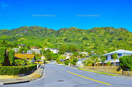 ハワイ ハワイカイの住宅地の写真素材 [FYI00632516]